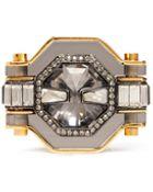 Lanvin Crystal Enamel Ring - Lyst