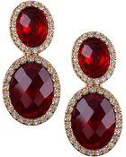 Anne Klein  Drop Clip Earrings - Lyst