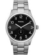 Fossil Men'S The Agent Watch With Stainless Steel Bracelet - Lyst