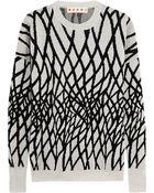 Marni Intarsia Wool-Blend Sweater - Lyst