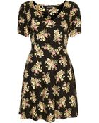 Topshop Vintage Flower Flippy Dress - Lyst