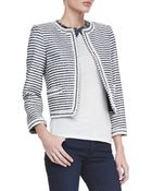 Alice + Olivia Kidman Cropped Horizontal Striped Jacket Alice Olivia - Lyst