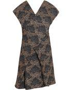 Kenzo 6 Ss Brocade Wrap Dress - Lyst