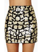 Nasty Gal Far Out Feline Sequin Skirt - Lyst