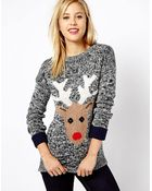 Asos A Wear Reindeer Sweater - Lyst