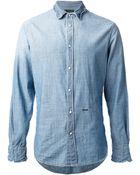 DSquared2 Washed Denim Shirt - Lyst