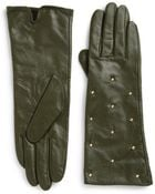 Kate Spade Long Studded Leather Gloves - Lyst