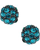 Topshop Pave Ball Stud Earrings - Lyst