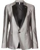 Topshop Modern Tailoring Silver Blazer - Lyst