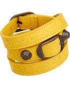 Balenciaga Arena Classic Double Tour Bracelet - Lyst