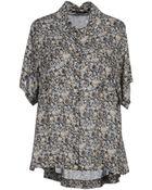 Patrizia Pepe Short Sleeve Shirts - Lyst