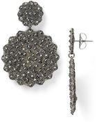 Roni Blanshay Flower Crystal Drop Earrings - Lyst