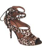 Tabitha Simmons Calf Hair Open Toe Sandal  - Lyst