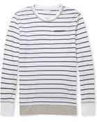 Michael Bastian Striped Cotton and Linenblend Tshirt - Lyst
