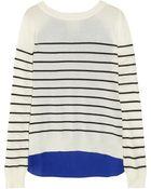 Mason by Michelle Mason Silk Crepe Paneled Cashmere Sweater - Lyst