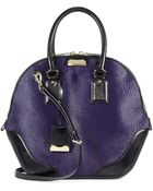 Burberry Leathertrimmed Calf Hair Tote - Lyst