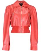 John Richmond Leather Outerwear - Lyst