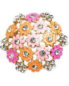 Jones New York Gold-Tone Colorful Flower Pin - Lyst