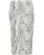 Topshop Snake Print Tube Skirt - Lyst