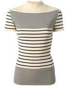 Jean Paul Gaultier Striped Top - Lyst