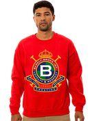 Barely Broke Intellects The Bbi Crest Crewneck Sweatshirt - Lyst