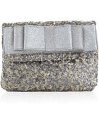 Deux Lux Anais Sequin Clutch Bag with Bow Mist - Lyst