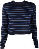 Tibi Cropped Nautical Striped Sweater - Lyst
