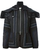 Sacai Quilted Jacket - Lyst