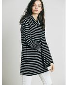 Free People Womens Striped Cowl Dress - Lyst