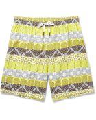 Dan Ward Mid-Length Printed Swim Shorts - Lyst