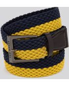 Ted Baker Halfbet Two-Color Elastic Belt - Lyst