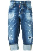DSquared² Cropped Jeans - Lyst