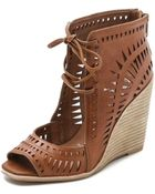 Jeffrey Campbell Rodillo Wedges - Tan - Lyst