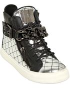 Giuseppe Zanotti 20Mm Quilted Mirror Leather Sneakers - Lyst