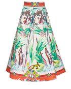 Alice + Olivia Merritt Mid Length Flared Skirt - Lyst