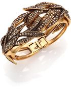 Oscar de la Renta PavÉ Crystal Spike Cuff Bracelet - Lyst