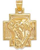 Macy's Us Men'S Christ Pendant In 10K Gold - Lyst