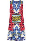 Etro Printed Stretch-Crepe Mini Dress - Lyst
