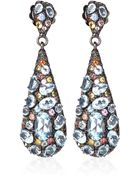 M.c.l Multicolour Sapphire And Blue Topaz Gem Drop Earrings - Lyst
