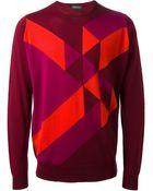 John Smedley Intarsia Knit Sweater - Lyst