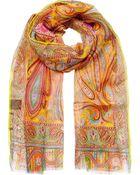 Etro Paisley Silk Scarf - Lyst