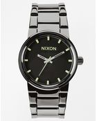 Nixon Cannon Gunmetal Stainless Steel Strap Watch A160 1885 - Lyst