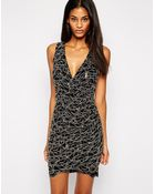 Lipsy Sequin Lace Wrap Body-Conscious Dress - Lyst