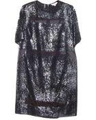 Rebecca Taylor Foil Lace Dress - Lyst