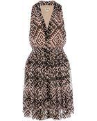 Temperley London Ripple Print Sleeveless Dress - Lyst