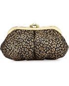 Betsey Johnson Leopard-Print Heart-Frame Evening Clutch Bag - Lyst