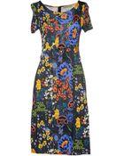 Versace Jeans Kneelength Dress - Lyst