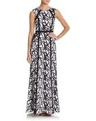 BCBGMAXAZRIA Abstract-Embroidered Tulle Gown - Lyst