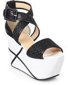 Calvin Klein Pauline Weave Platform Wedge Sandals - Lyst