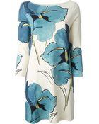 Tory Burch Floral Shift Dress - Lyst